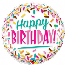 "Birthday Sprinkles Foil Balloon (9"" Air-Fill) 1pc"